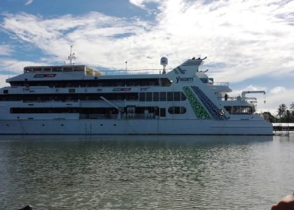 AH bezorgservice en een cruiseschip