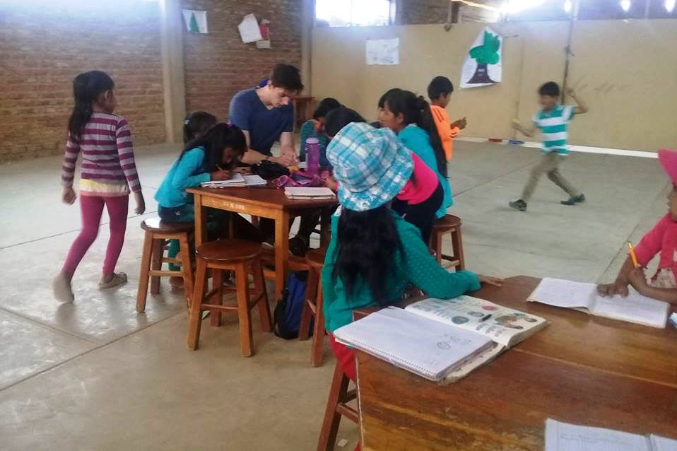 Mobiel klaslokaal in Bolivia